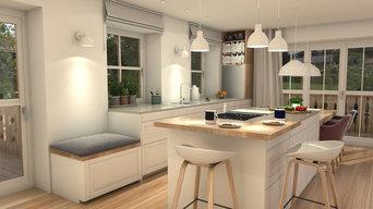 Visualisierungen - Küche mit Essbereich
