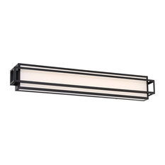 "Equation 30"" LED Bathroom Vanity & Wall Light 3000K, Black"