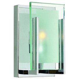 """Hinkley Latitude 1 Light Steel Bathroom Sconce, 5""""x8"""""""