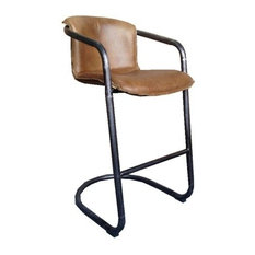 ARTEFAC - Full Grain Genuine Leather Stool, Whisky, Bar Seat - Bar Stools and Counter Stools