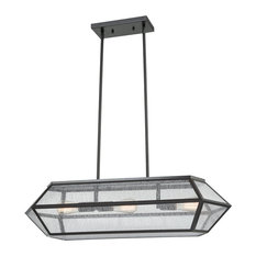 Luxe / Glam 3 Light Island Light in Oil Rubbed Bronze Finish