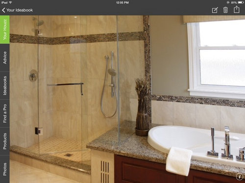 Tub With A Six Inch Granite Surround That Would Run Into Shower Bench Like In The Attached Photo And Debating Undermount Or Drop