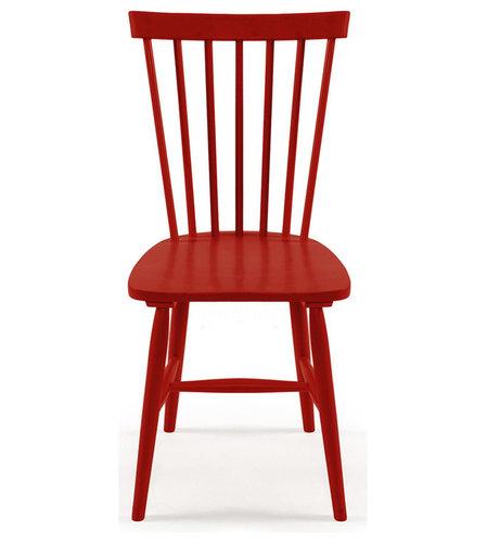 Wood H17 Pinnstol, Röd - Spisebordsstole