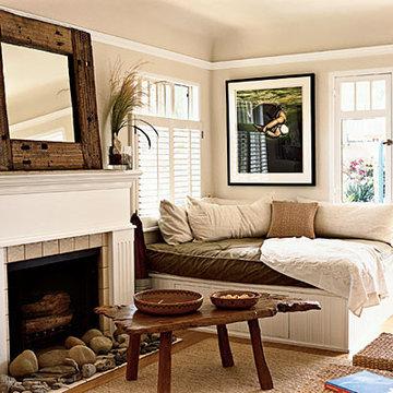 living room large lounger - 50 Comfy Cottage Rooms - Photos - CoastalLiving.com