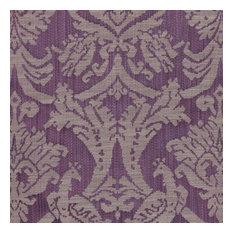 """Delacroix Damask Violet Fabric, 54""""x36"""""""