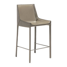 Fashion Counter Chairs, Stone Gray, Set of 2