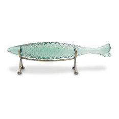 Palecek Glass Sakana Fish on Stand, Small