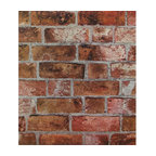 "Faux Brick Wallpaper, 20""x33"