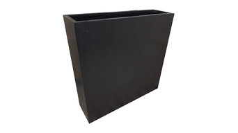 Black Barrier/Divider Pot | Polystone Planters