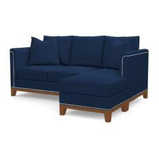 La Brea Reversible Chaise Sofa, Cobalt Velvet