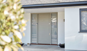 Contemporary Front Door with Sidelights