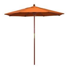 7.5' Wood Umbrella, Marenti Wood, Tuscan, Pacifica