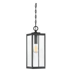 Quoizel Lighting WVR1907EK Westover 1 Light Outdoor Hanging Light, Earth Black