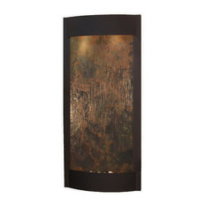 Pacifica Waters Indoor Water Fountain, Multi-Color Featherstone, Textured Black
