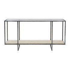 Bernhardt Harlow Metal Console Table