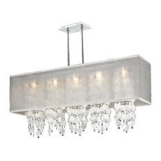 Rectangular drum shade chandeliers houzz glow lighting 44w rectangular shaded capiz shell and crystal chandelier omni 627k aloadofball Gallery