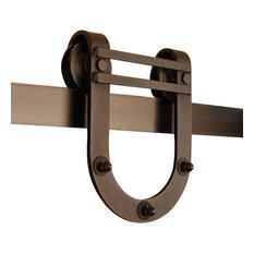 Nice GOSO Direct   Sliding Barn Door Hardware Kit, Solid Steel Rail And Roller  Horseshoe