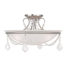 Chesterfield and Pennington Ceiling Mount, Brushed Nickel