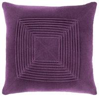 "Surya Akira AKA-009 Texture Velvet Pillow, Square 22""x22"" Cover Only"