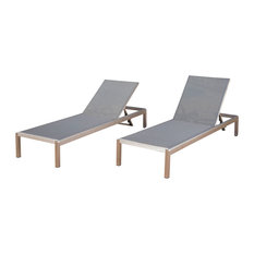 GDFStudio   Coral Bay Dark Gray Outdoor Mesh Chaise Lounge, Set Of 2    Outdoor