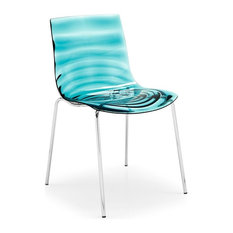 calligaris lu0027eau side chair satin finished steel frame transparent seat finish