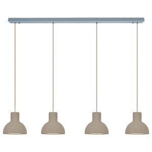 Bell Pendant Light, Four Bulbs, Medium