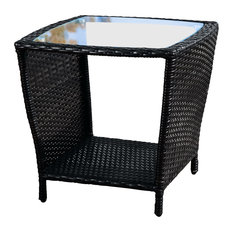 gdfstudio easton outdoor wicker accent table black outdoor side tables - Outdoor Accent Tables