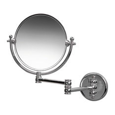 Classic Wall Mounted Mirror With 3-Times Magnification, Chrome