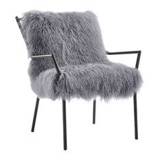 MOD - Edinburgh Sheepskin Chair, Gray - Armchairs and Accent Chairs