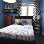 Car Garage Theme Kids Bedroom Transitional Toronto