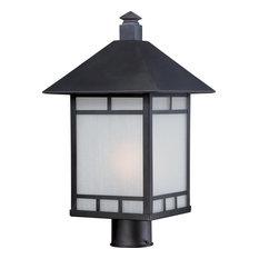 Nuvo Drexel ES 1-Light Stone Black Outdoor Post Top Light