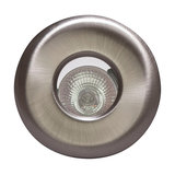 Penrith 1 Light Recessed Downlight, Brushed Chrome