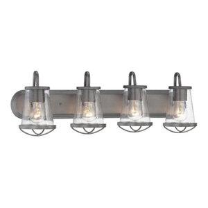 Designers Fountain 87004 Darby Vanity Light Bathroom Fixture, Weathered Iron