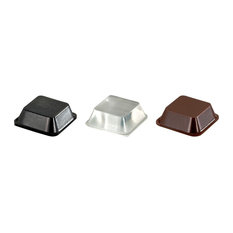 """Square Adhesive Cabinet & Furniture Rubber Pads-BS29 .780""""x.250""""-98pcs"""