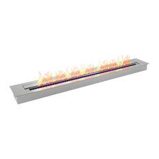 PRO 47 Inch Bio-Fireplace Burner Insert 9.9 Liter - Soot-Free, Easy-Extinguish
