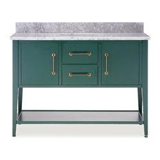 """Bergen Single Bathroom Vanity, Green, 48"""""""