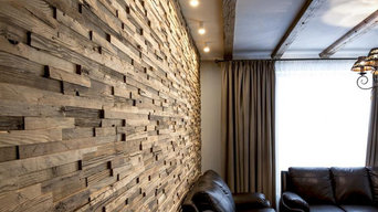 Reclaimed antique wood tiles