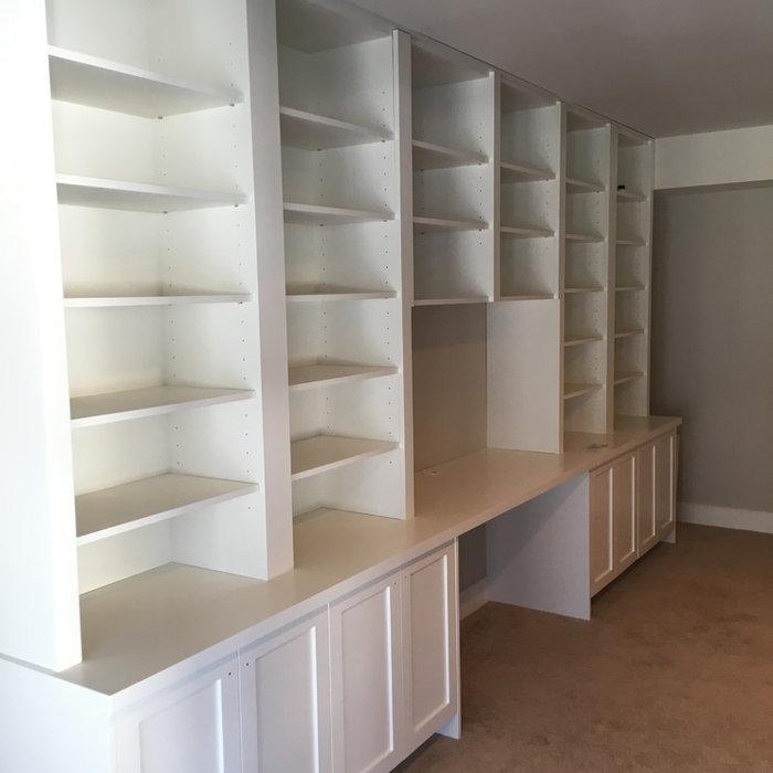 Custom Built-in Book Cases w/ Desk Area