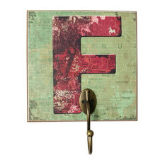 Blancho Bedding - Creative Retro Home Fitting Room Clothes Hat Key Hook, Letter F - Wall Hooks