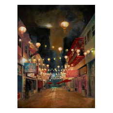 Art Print, Lights On Chung King St