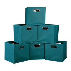 Regency - Niche Cubo, Set of 6, Foldable Fabric Storage Bins, Teal - Storage Bins and Boxes