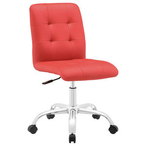 Modway Prim Armless Mid Back Office Chair EEI-1533-RED