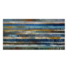 "Large 24""x48x2 Original Abstract Painting Impasto Modern Wall Art by Thomas John"