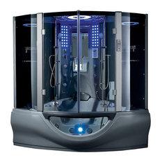 Exceptional Maya Bath   Valencia Steam Shower Sauna With Jacuzzi Whirlpool Massage  Bathtub, Gray   Steam