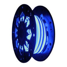 24V LED Single Sided Flexible Neon Rope Light - 39ft Spool, Blue