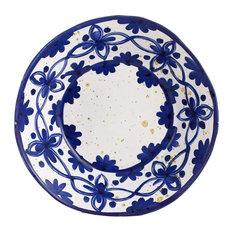 Feba Italia - Pergola Blue Organic Ceramic Soup Plate - Bowls