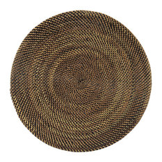 Round Nito Placemat Set of 2, Brown