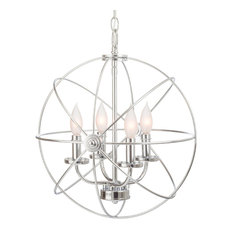 Revel Orbits Ii 15 4 Light Modern Sphere Orb Chandelier