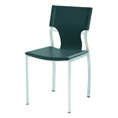 Lisbon Dining Chair, Black, Silver