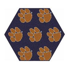 NCAA My Team College Repeating Rug Clemson, Purple, 12' Hexagon